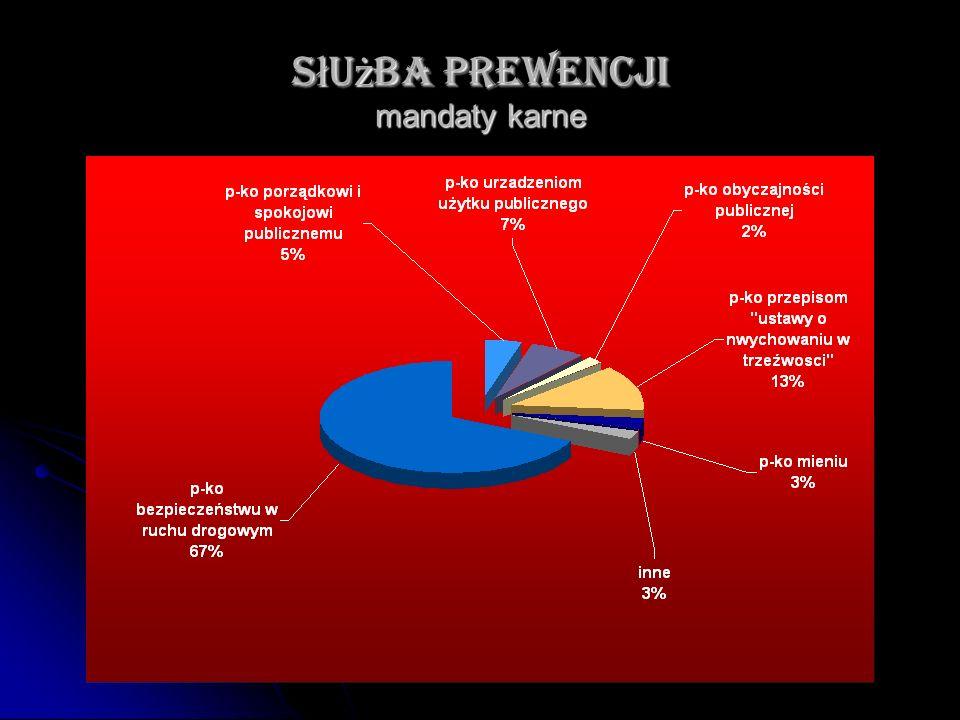 S ł u ż ba prewencji mandaty karne