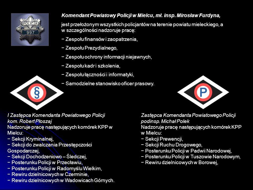 Komendant Powiatowy Policji w Mielcu, mł. insp. Mirosław Furdyna, jest przełożonym wszystkich policjantów na terenie powiatu mieleckiego, a w szczegól