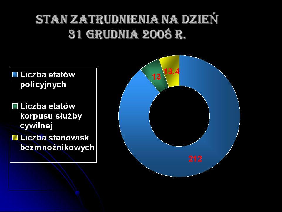 STAN ZATRUDNIENIA NA DZIE Ń 31 GRUDNIA 2008 r.