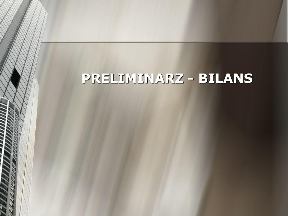 PRELIMINARZ - BILANS
