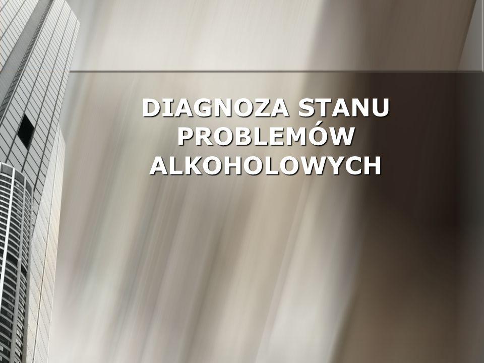 DIAGNOZA STANU PROBLEMÓW ALKOHOLOWYCH