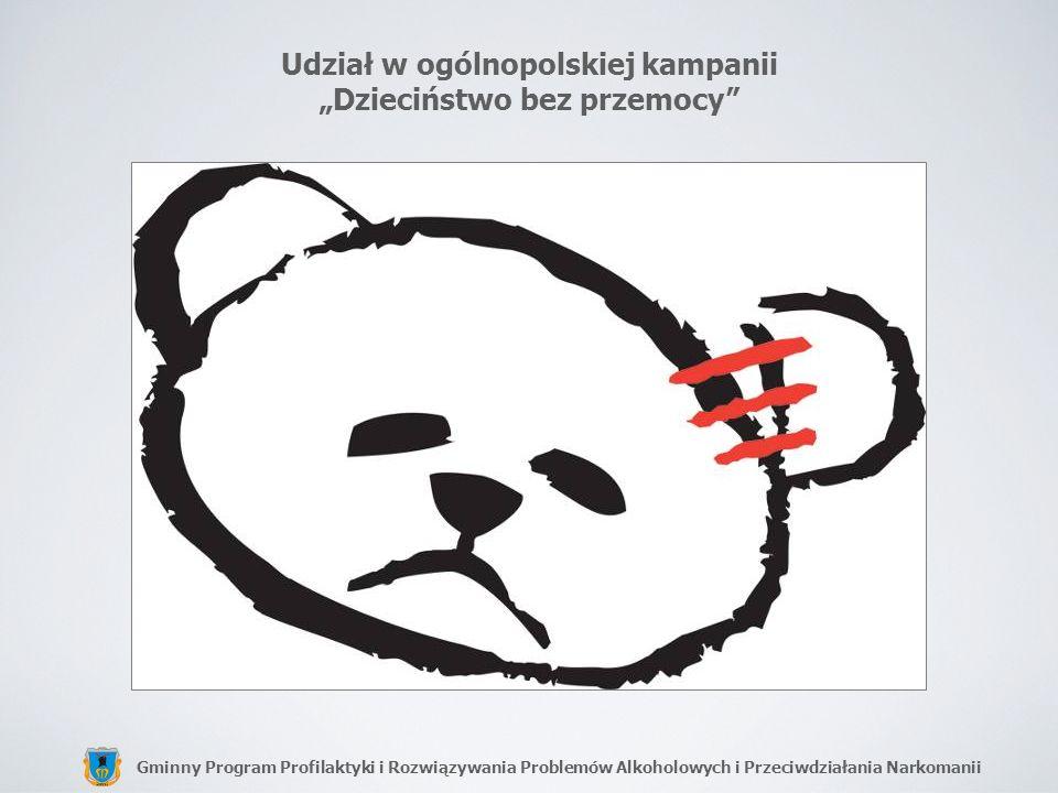 Gminny Program Profilaktyki i Rozwiązywania Problemów Alkoholowych i Przeciwdziałania Narkomanii Udział w ogólnopolskiej kampanii Dzieciństwo bez prze