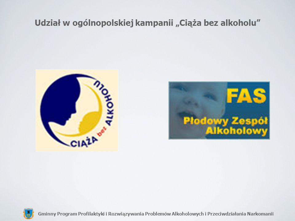 Gminny Program Profilaktyki i Rozwiązywania Problemów Alkoholowych i Przeciwdziałania Narkomanii Udział w ogólnopolskiej kampanii Ciąża bez alkoholu