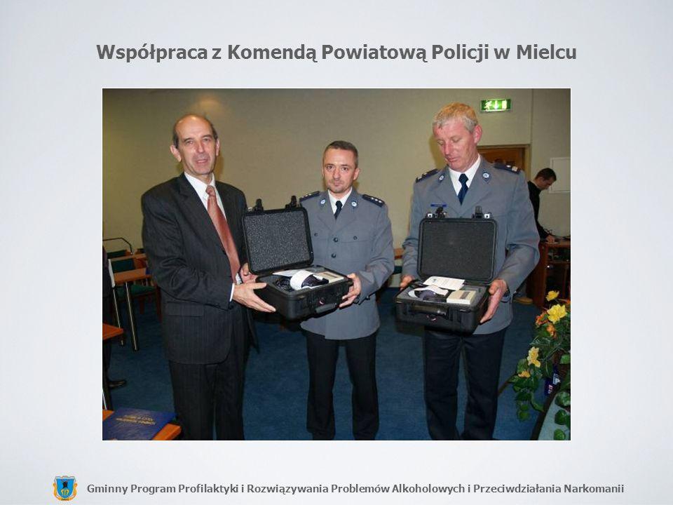 Gminny Program Profilaktyki i Rozwiązywania Problemów Alkoholowych i Przeciwdziałania Narkomanii Współpraca z Komendą Powiatową Policji w Mielcu