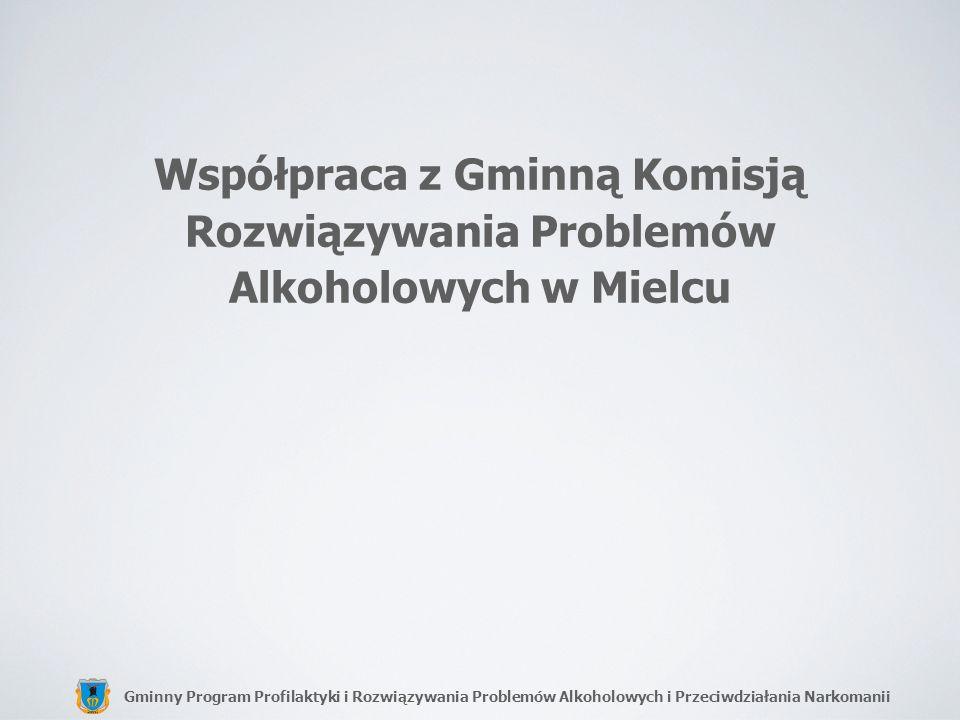 Gminny Program Profilaktyki i Rozwiązywania Problemów Alkoholowych i Przeciwdziałania Narkomanii Współpraca z Gminną Komisją Rozwiązywania Problemów A
