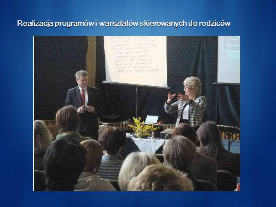 Realizacja programów i warsztatów skierowanych do rodziców
