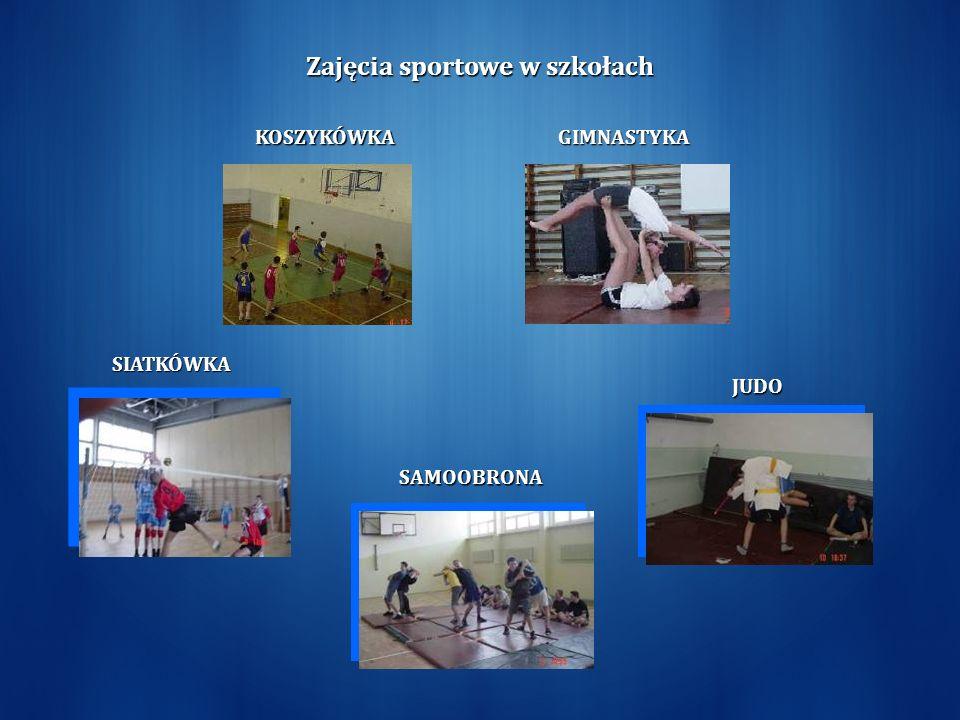 SIATKÓWKA JUDO GIMNASTYKA SAMOOBRONA KOSZYKÓWKA Zajęcia sportowe w szkołach