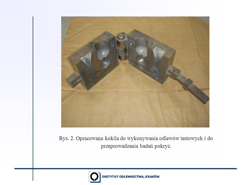 INSTYTUT ODLEWNICTWA, KRAKÓW Rys. 2. Opracowana kokila do wykonywania odlewów testowych i do przeprowadzania badań pokryć.