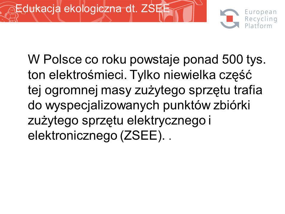W Polsce co roku powstaje ponad 500 tys. ton elektrośmieci.