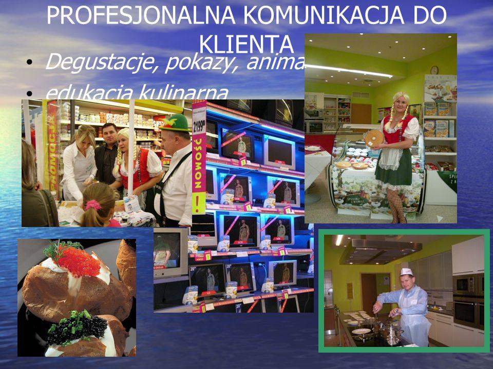 PROFESJONALNA KOMUNIKACJA DO KLIENTA Degustacje, pokazy, animacje, edukacja kulinarna