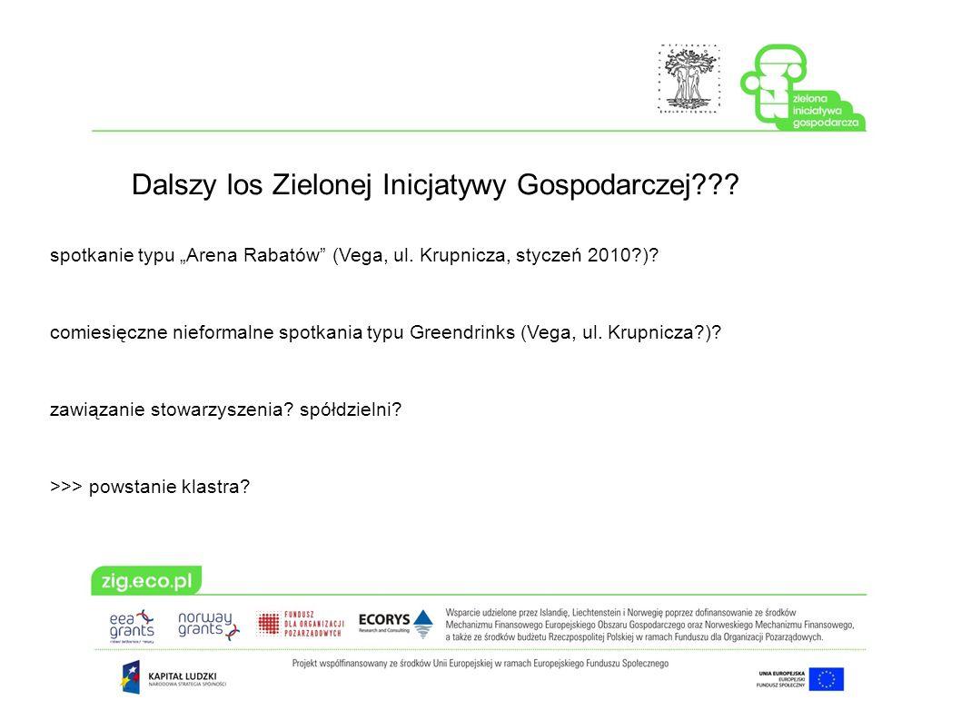 Dalszy los Zielonej Inicjatywy Gospodarczej??.spotkanie typu Arena Rabatów (Vega, ul.