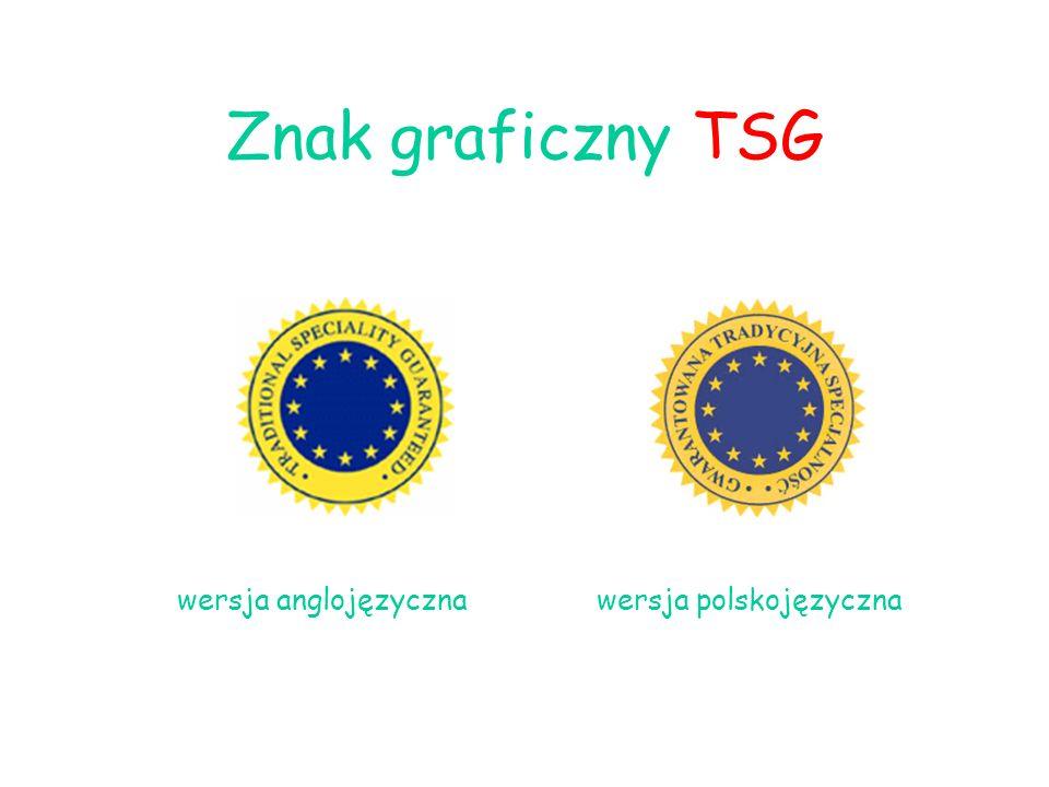 Znak graficzny TSG wersja anglojęzyczna wersja polskojęzyczna