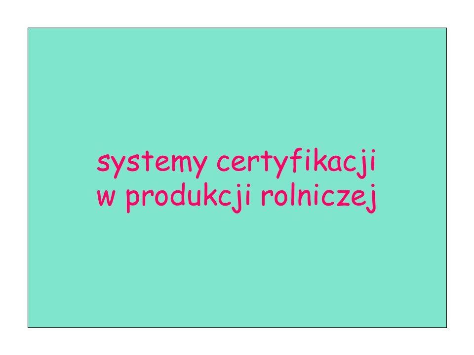 systemy certyfikacji w produkcji rolniczej