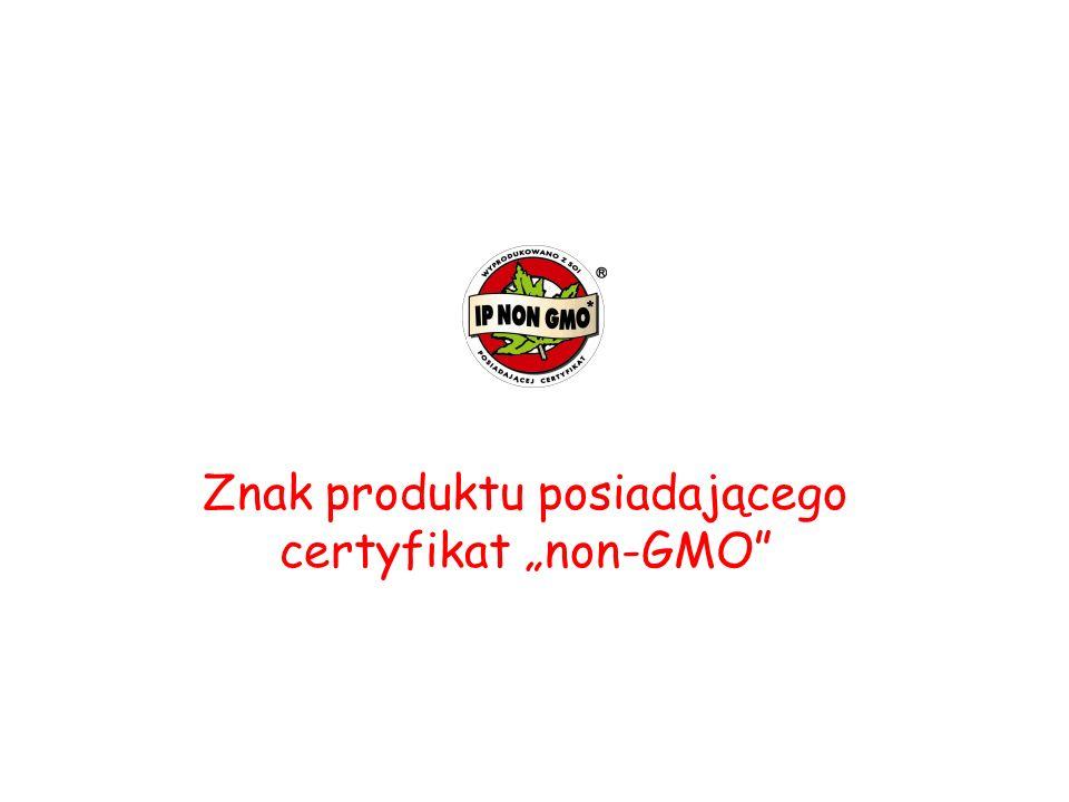 Znak produktu posiadającego certyfikat non-GMO