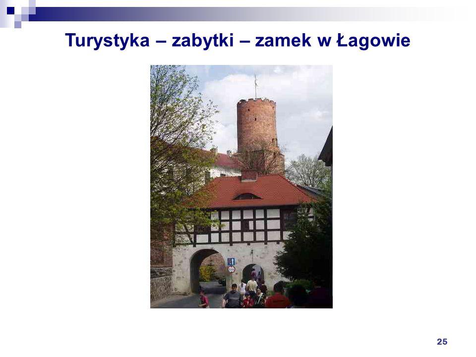 25 Turystyka – zabytki – zamek w Łagowie