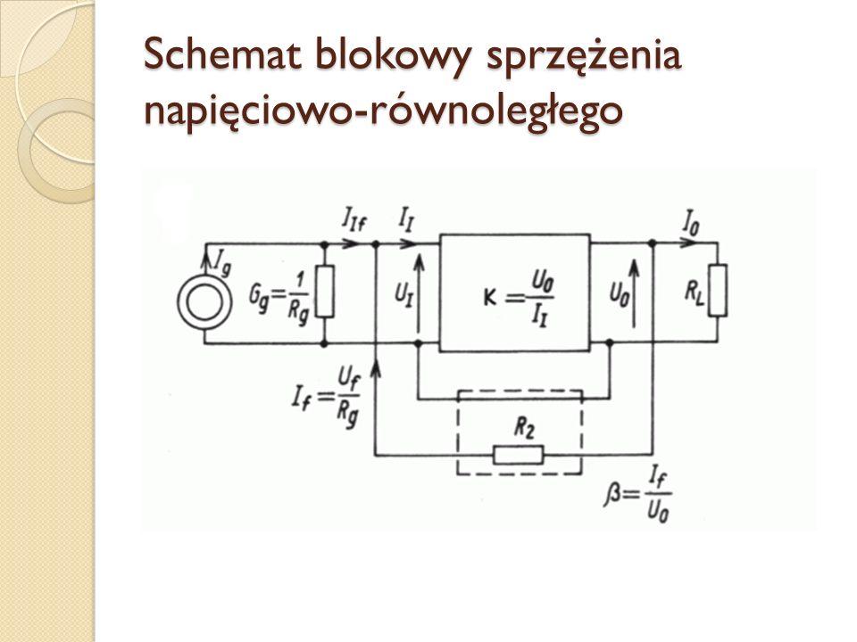 Schemat blokowy sprzężenia napięciowo-równoległego