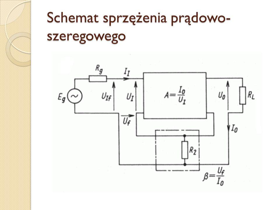 Schemat sprzężenia prądowo- szeregowego