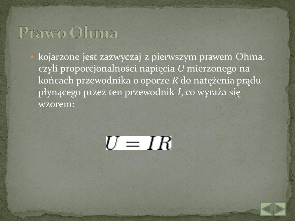 Prawo to można wyprowadzić z pierwszego prawa Ohma.