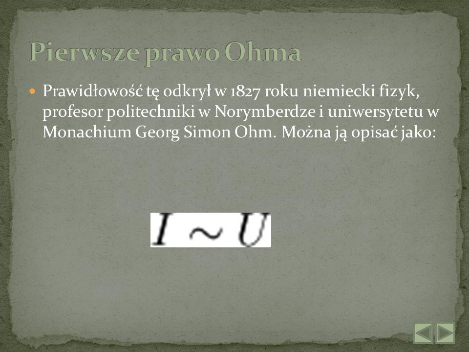 Korzystając z definicji różniczkowego prawa Ohma: Korzystając z pierwszego prawa Ohma, oraz jeśli oznaczymy opór elektryczny właściwy jako: otrzymujemy drugie prawo Ohma