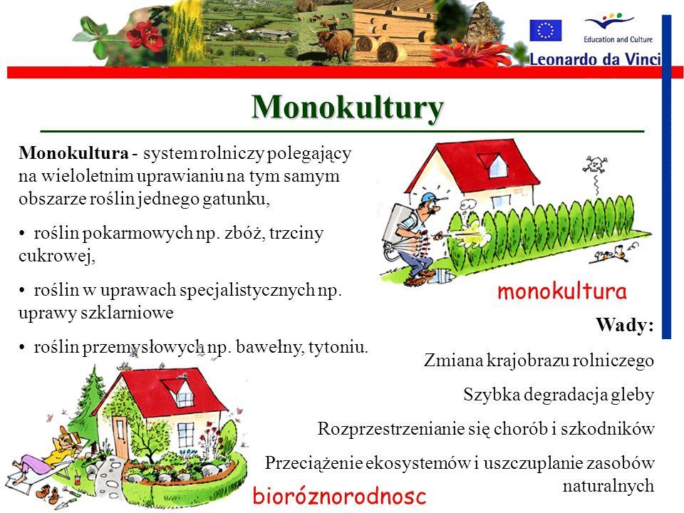 Intensyfikacja Intensyfikacja - rolnictwa, ma na celu podniesienie wydajności, popycha rolników zajmujących się uprawą do częstego używania a nawet na