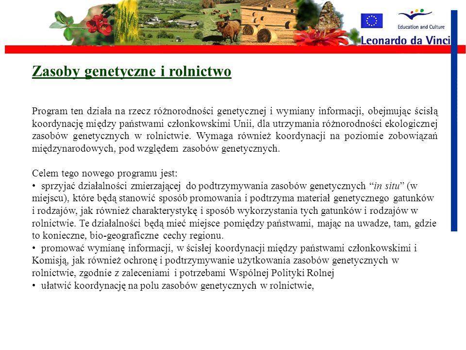 Rolnictwo i bioróżnorodność W Planie Działań na rzecz bioróżnorodności, Komisja zasugerowała wprowadzenie nowego wspólnego programu dla podtrzymania i