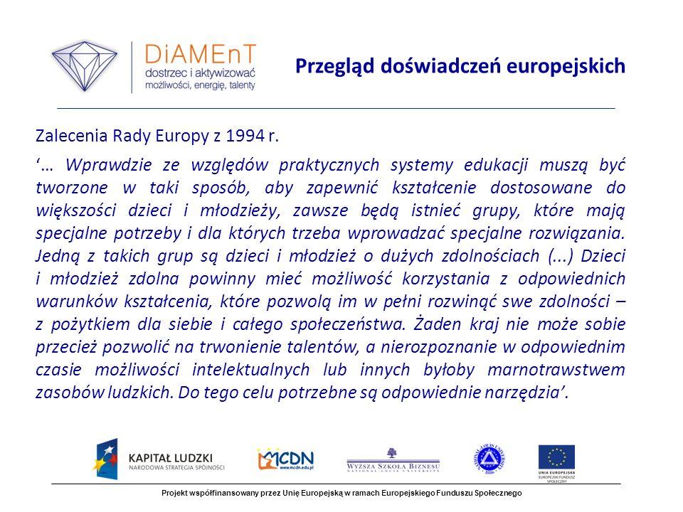 Zalecenia Rady Europy z 1994 r.