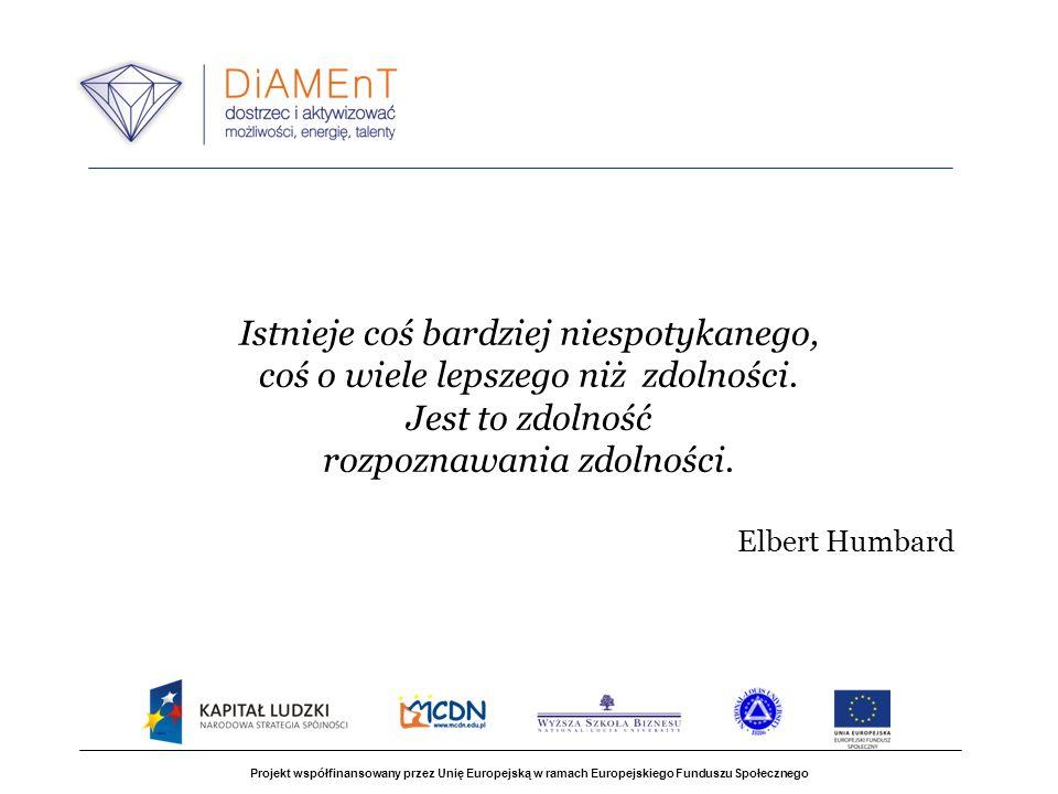 Projekt współfinansowany przez Unię Europejską w ramach Europejskiego Funduszu Społecznego Istnieje coś bardziej niespotykanego, coś o wiele lepszego