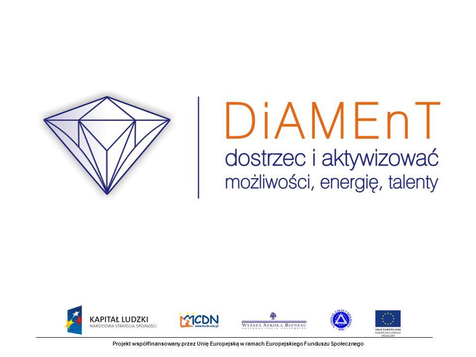 Projekt powstał z inicjatywy Zarządu Województwa Małopolskiego i będzie realizowany w ramach Programu Operacyjnego Kapitał Ludzki jako ponadnarodowy projekt innowacyjny Projekt współfinansowany przez Unię Europejską w ramach Europejskiego Funduszu Społecznego