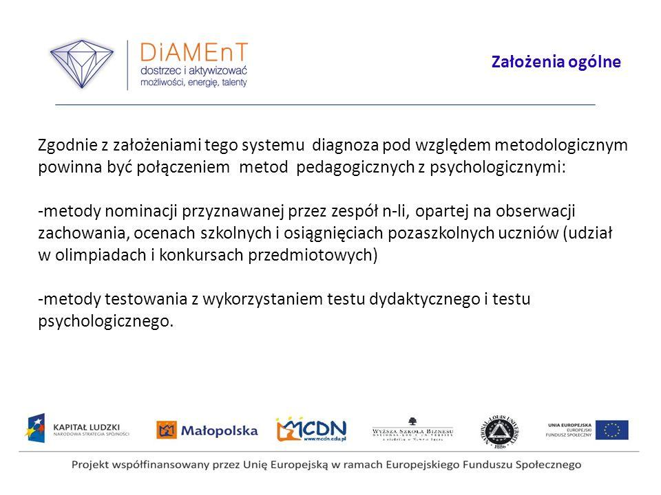 Projekt współfinansowany przez Unię Europejską w ramach Europejskiego Funduszu Społecznego Organizacja II etapu diagnozy Do przeprowadzenia diagnozy szkoły otrzymały pakiety zawierające materiały: - kwestionariusze testów osiągnięć i kwestionariusze testów uzdolnień (zeszyty odpowiedzi ucznia) - dodatkowe pojedyncze karty z zadaniami lub tekstami (matematyka, jęz.