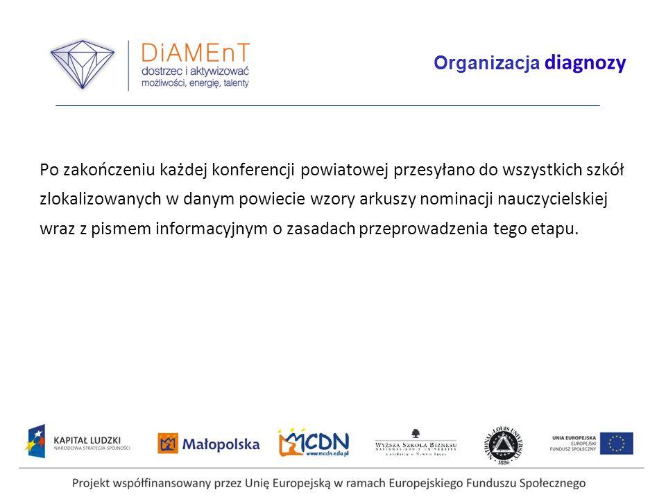 Projekt współfinansowany przez Unię Europejską w ramach Europejskiego Funduszu Społecznego Przebieg I etapu diagnozy Harmonogram I etapu diagnozy