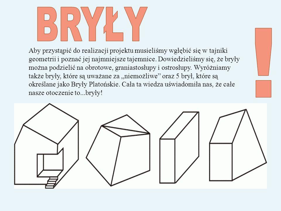 Aby przystąpić do realizacji projektu musieliśmy wgłębić się w tajniki geometrii i poznać jej najmniejsze tajemnice.