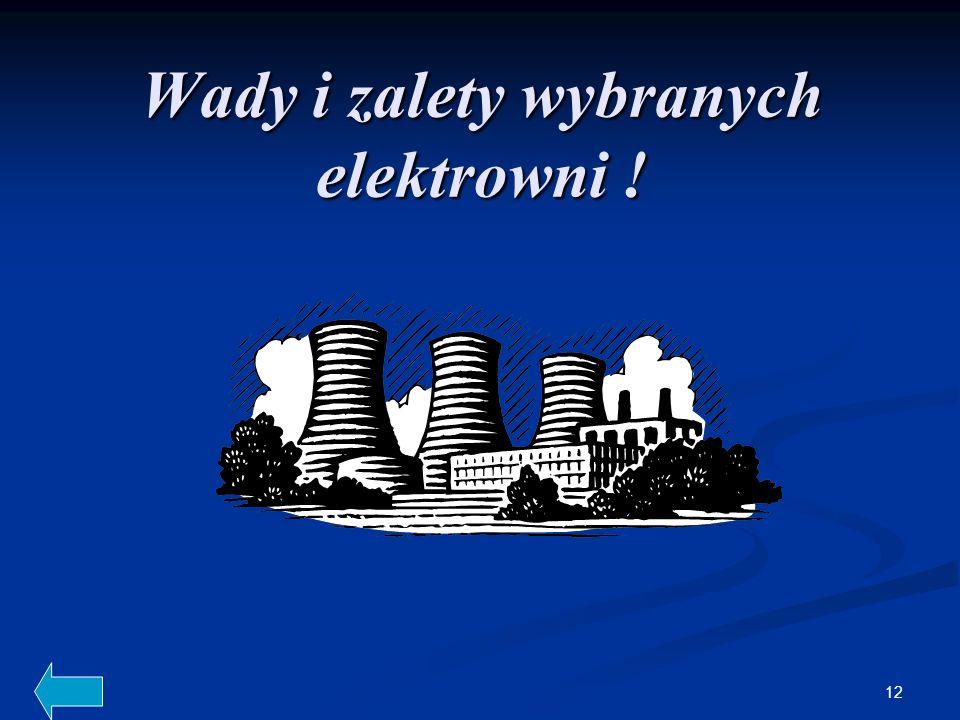 12 Wady i zalety wybranych elektrowni !