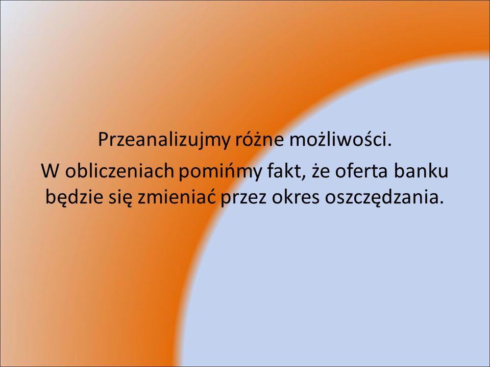 Lokata w Kredyt Banku Przyjmijmy, że Staszek zakłada lokatę już po sześciu miesiącach niepalenia.