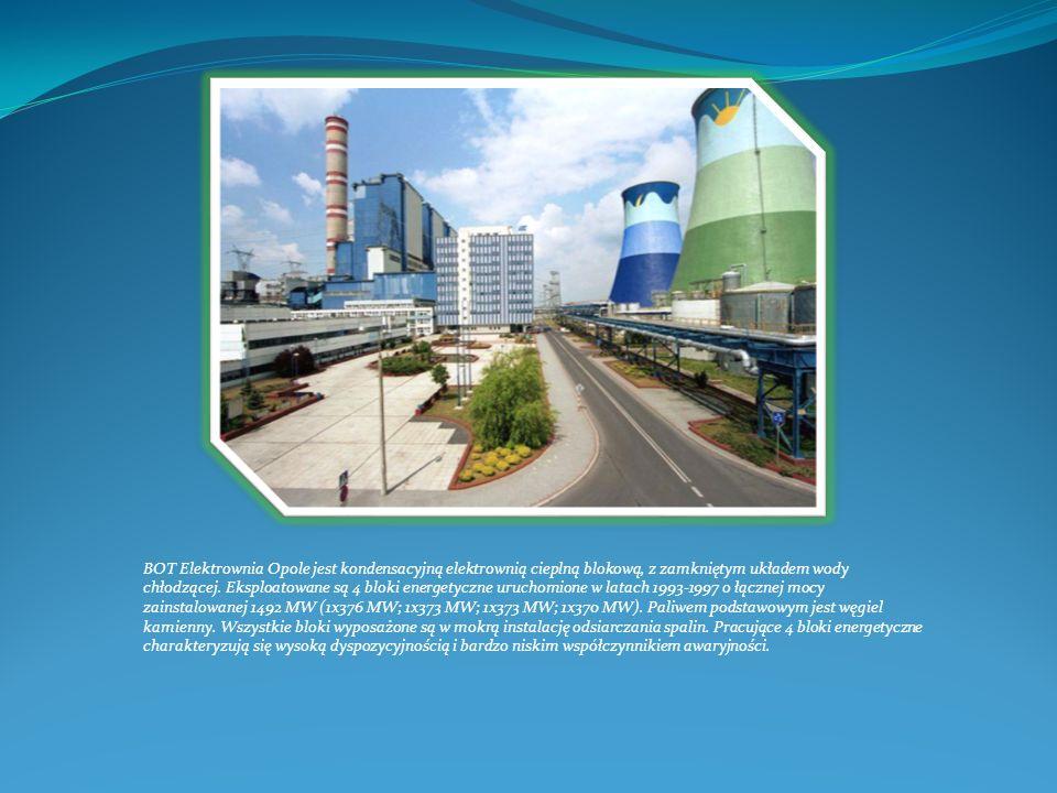 BOT Elektrownia Opole jest kondensacyjną elektrownią cieplną blokową, z zamkniętym układem wody chłodzącej. Eksploatowane są 4 bloki energetyczne uruc