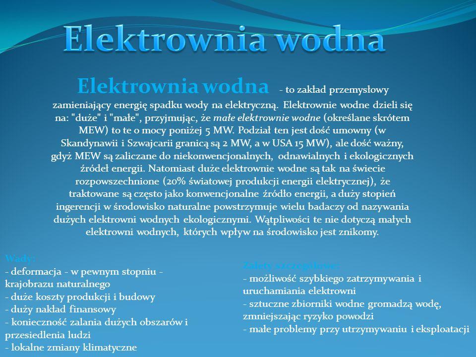 Elektrownia geotermiczna- inaczej geoelektrownia.