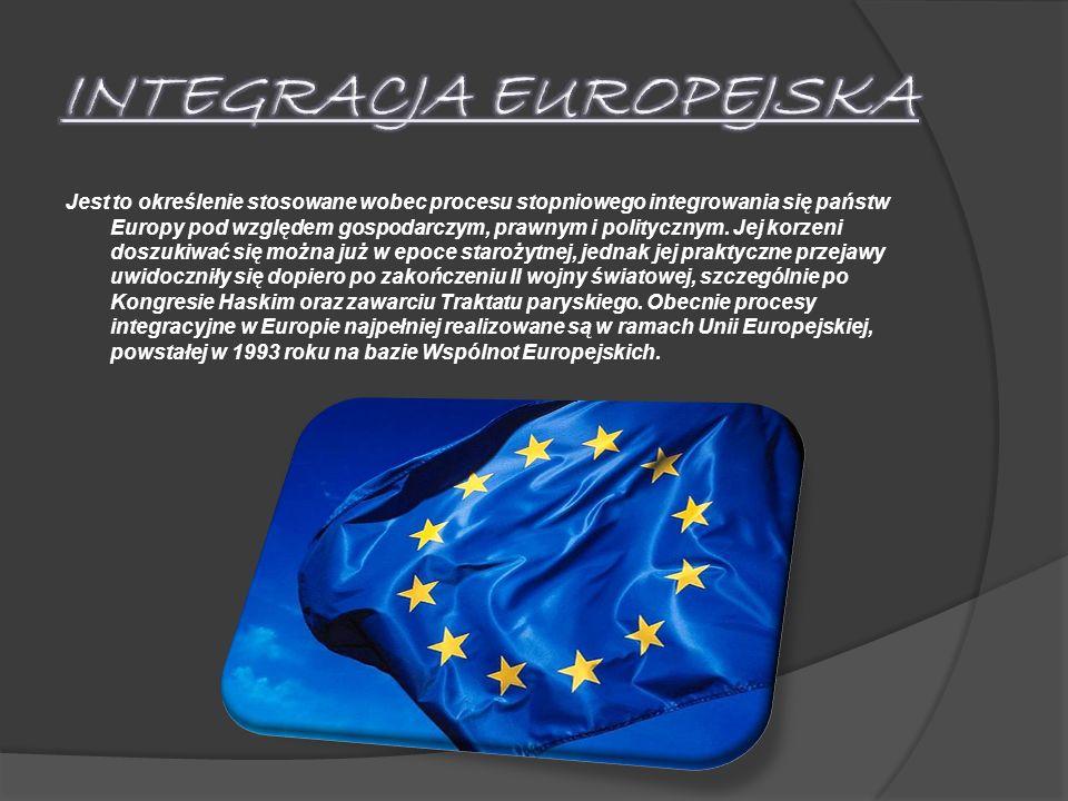 Jest to określenie stosowane wobec procesu stopniowego integrowania się państw Europy pod względem gospodarczym, prawnym i politycznym. Jej korzeni do