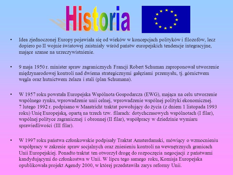 Idea zjednoczonej Europy pojawiała się od wieków w koncepcjach polityków i filozofów, lecz dopiero po II wojnie światowej zaistniały wśród państw euro