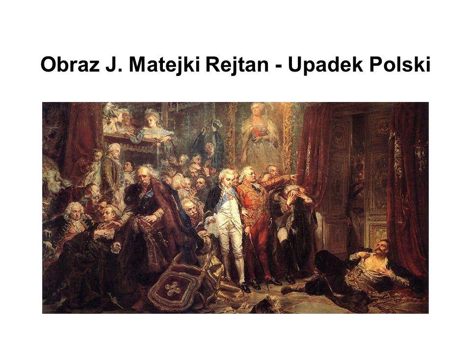 Obraz J. Matejki Rejtan - Upadek Polski