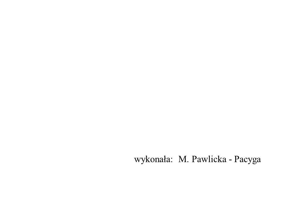 wykonała: M. Pawlicka - Pacyga