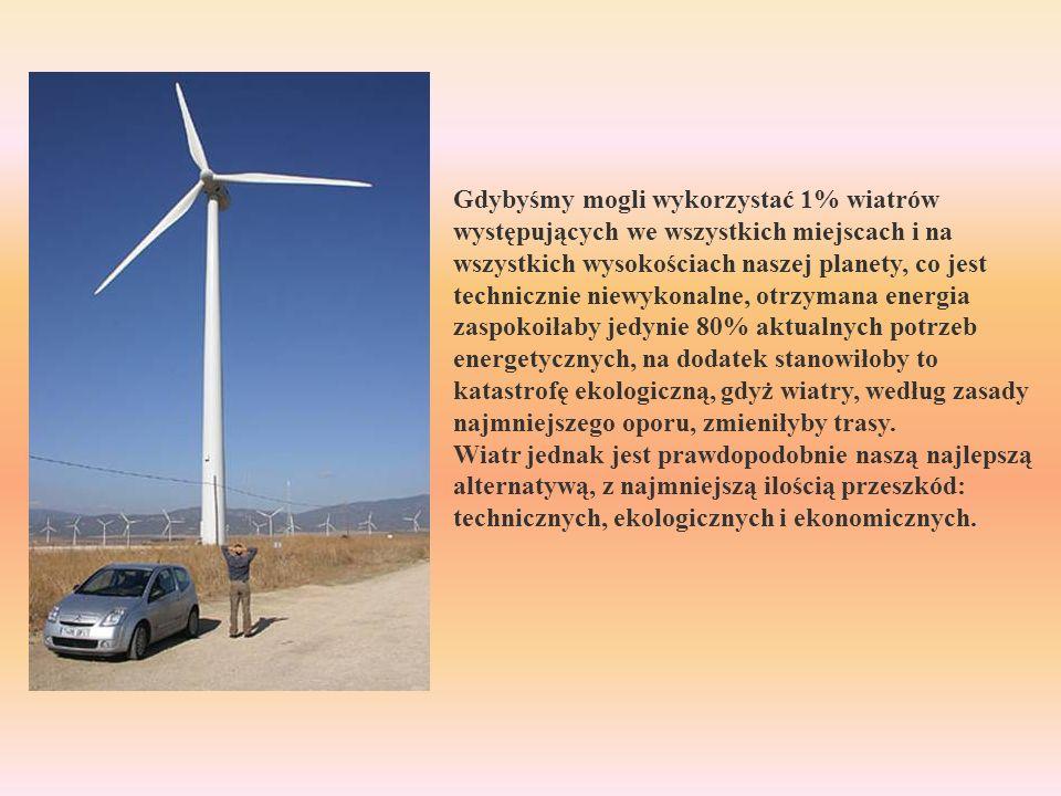 Gdybyśmy mogli wykorzystać 1% wiatrów występujących we wszystkich miejscach i na wszystkich wysokościach naszej planety, co jest technicznie niewykona