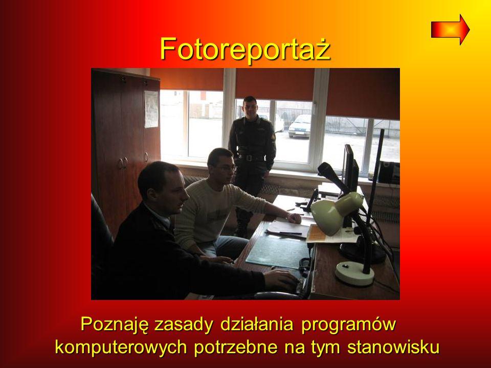 Fotoreportaż Poznaję zasady działania programów komputerowych potrzebne na tym stanowisku
