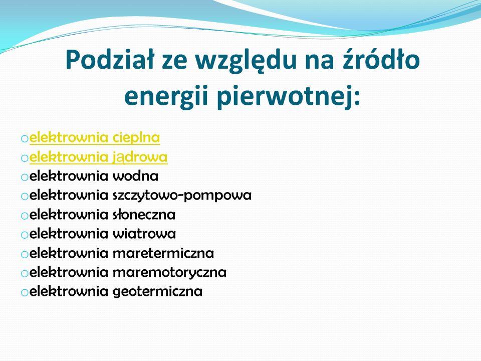 Elektrownia cieplna elektrownia cieplna, elektrownia cieplna klasyczna, elektrownia, w której energi ę (przenoszon ą w postaci ciepła), wytworzon ą gł.