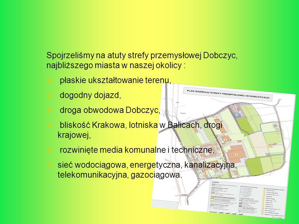 Spojrzeliśmy na atuty strefy przemysłowej Dobczyc, najbliższego miasta w naszej okolicy : płaskie ukształtowanie terenu, dogodny dojazd, droga obwodow