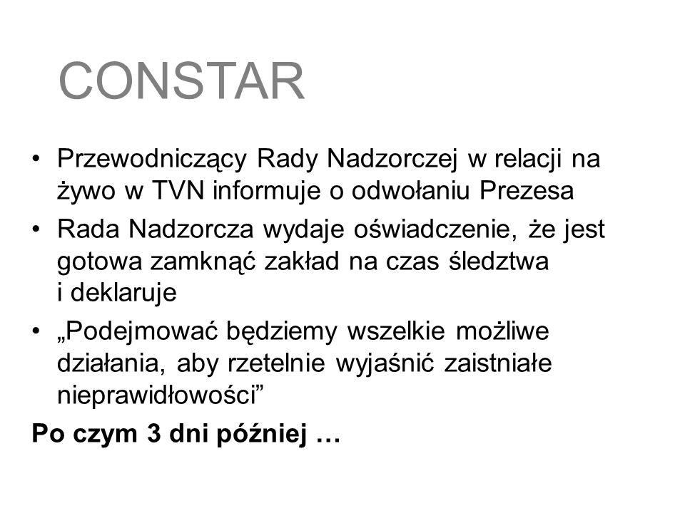 18.08.2005 Przypuszczalnie najlepiej kontrolowany zakład mięsny w Polsce - takim sloganem firma Constar chce naprawić swoją mocno nadszarpniętą reputację.