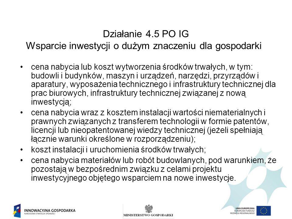 Ad.1.1.Kryteria formalne dla wszystkich działań i poddziałań – cd.