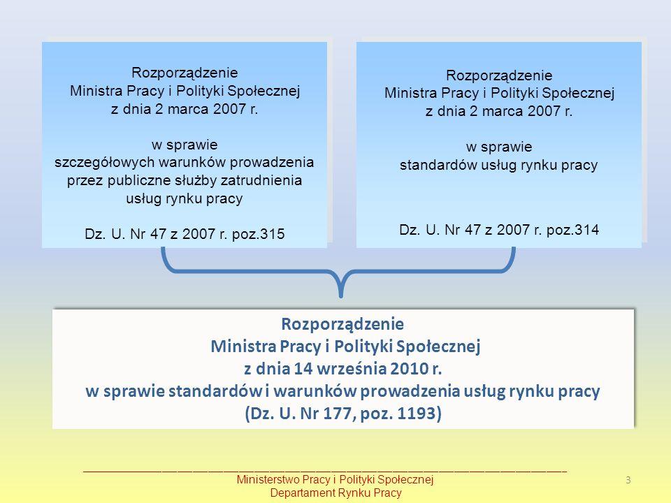 Rozporządzenie Ministra Pracy i Polityki Społecznej z dnia 2 marca 2007 r. w sprawie szczegółowych warunków prowadzenia przez publiczne służby zatrudn