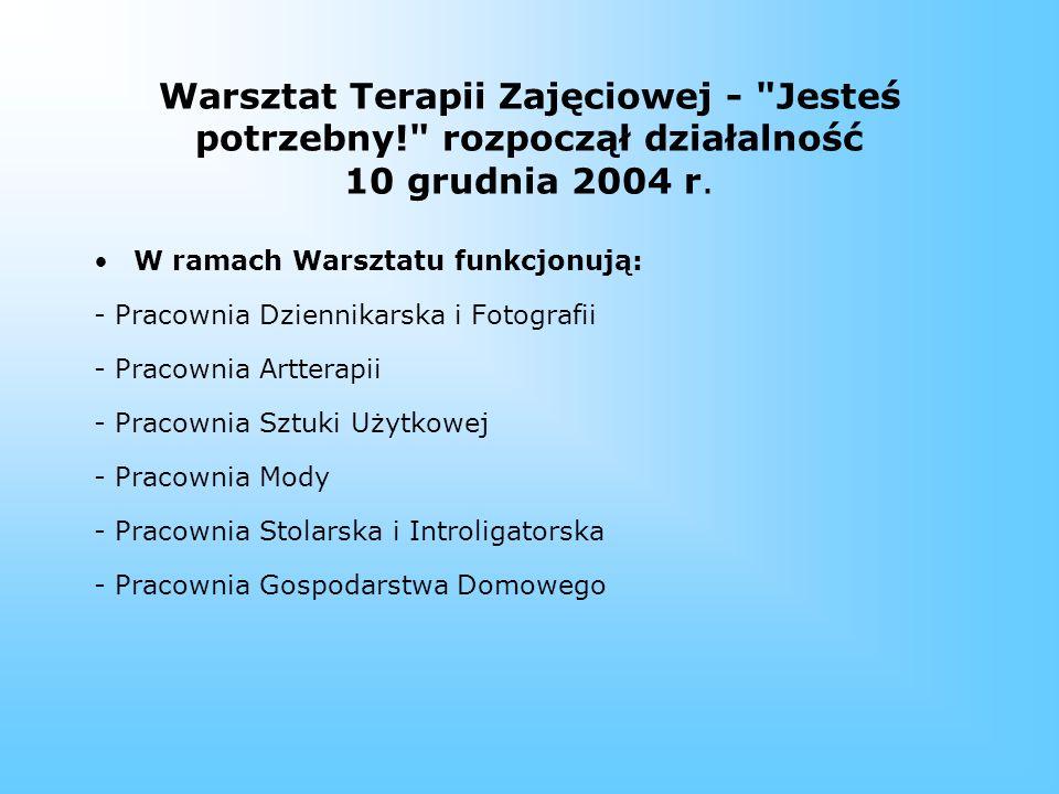 Rehabilitacja społeczna w ZAZ: 1.Udział w treningach komunikacji, zajęciach z asertywności itp.