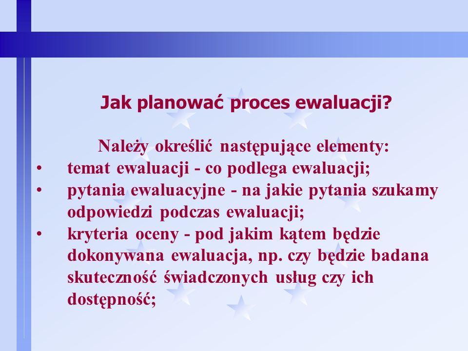 6 Kiedy można przeprowadzać ewaluację? Ewaluację można przeprowadzać zarówno na etapie: przygotowywania jakiegoś przedsięwzięcia (ewaluacja ex-ante);