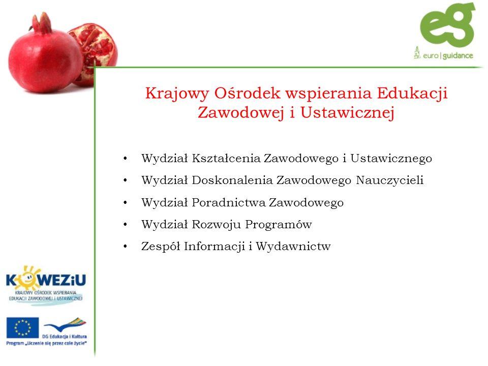 Opracowanie modelu doradztwa zawodowego oraz internetowego systemu poradnictwa edukacyjno-zawodowego Projekt systemowy realizowany w KOWEZiU w ramach PO KL Działanie 3.4 Otwartość systemu edukacji w kontekście uczenia się przez całe życie Poddziałanie 3.4.2 Ogólnopolskie kampanie upowszechniające model uczenia się przez całe życie