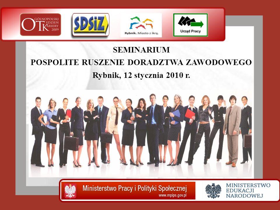 SEMINARIUM POSPOLITE RUSZENIE DORADZTWA ZAWODOWEGO Rybnik, 12 stycznia 2010 r.